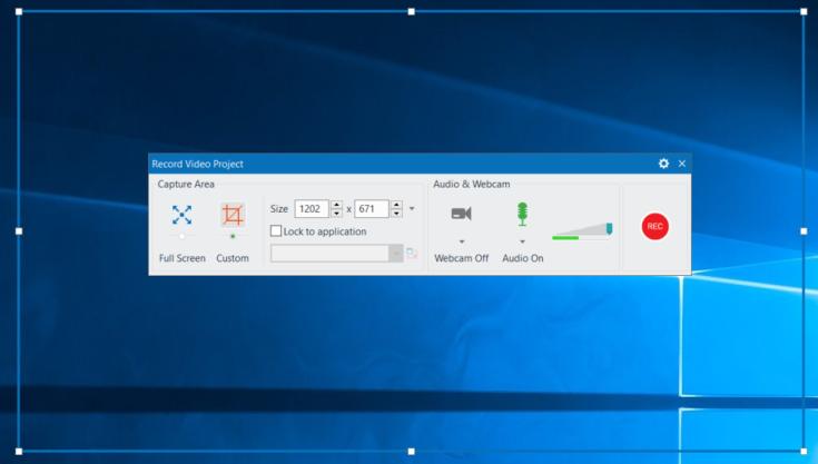 Công cụ quay video màn hình của ActivePresenter