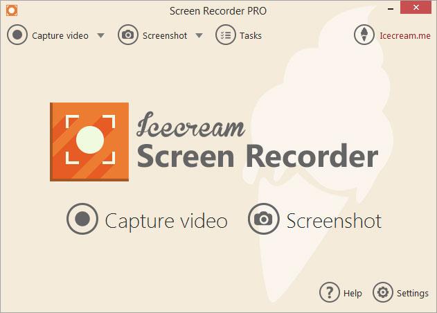 Phần mềm quay video màn hình icecream