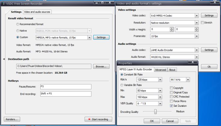 Phần mềm quay video màn hình VSDC