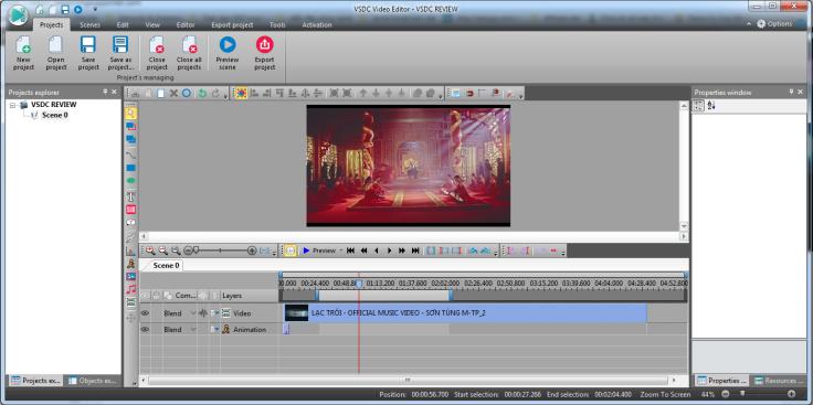 Phần mềm chỉnh sửa video miễn phí VSDC