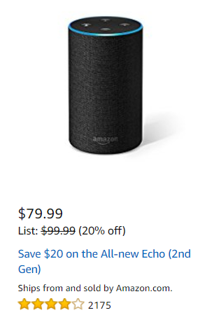 20% OFF All New Echo – Amazon